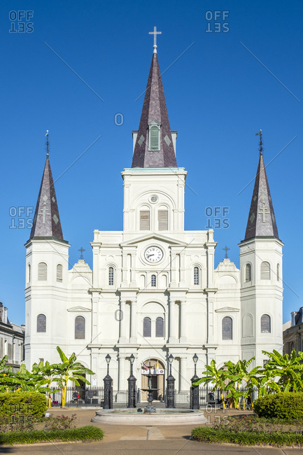 United States, Louisiana, New Orleans - October 12, 2016: Saint Louis Cathedral on Jackson Square, New Orleans, Louisiana
