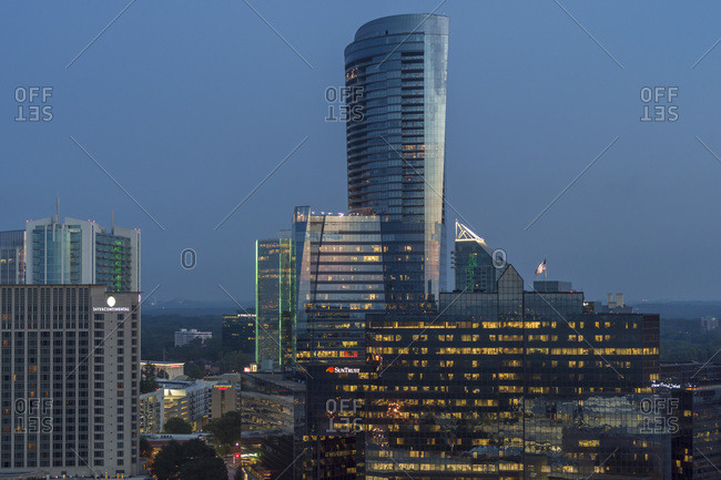 Atlanta, Georgia, United States - August 2, 2019: Buckhead Skyline, Atlanta, Georgia, USA