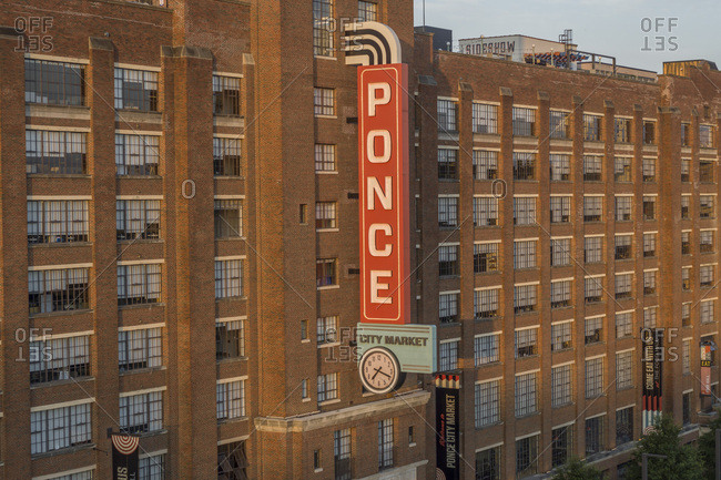 Atlanta, Georgia, United States - August 10, 2019: Ponce City Market, Atlanta, Georgia