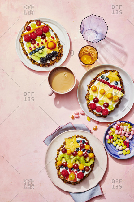 Assorted Fruit Tart Breakfast Spread