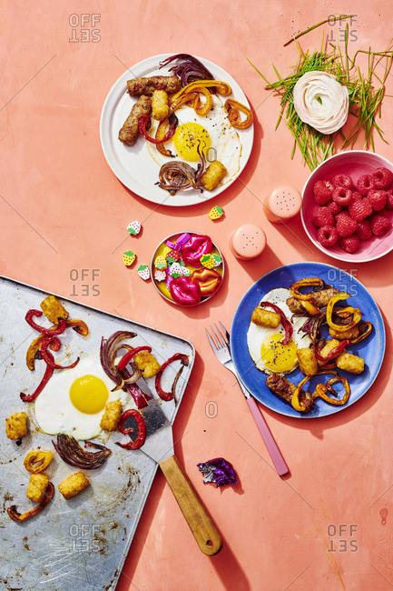 Hearty Breakfast Spread