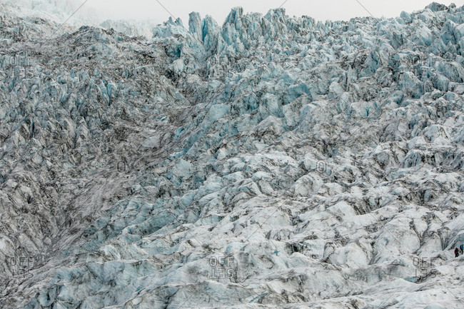 Texture of an icy glacier in Iceland