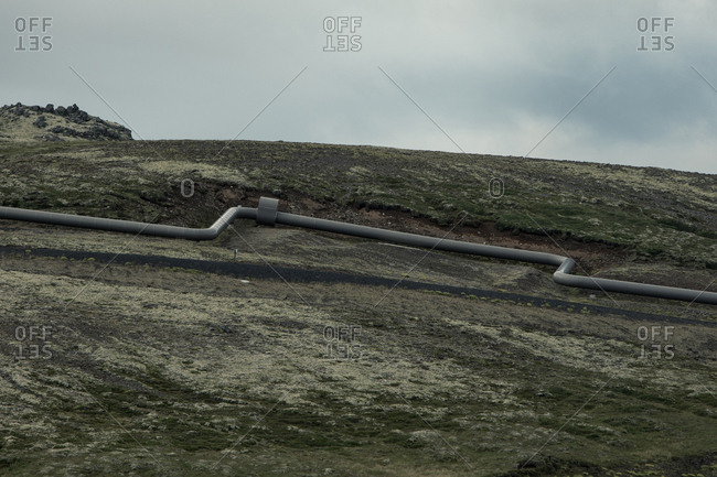 Water pipeline in rural Iceland