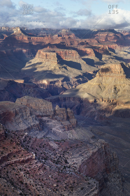 Scenic view of Grand Canyon National Park during sunset