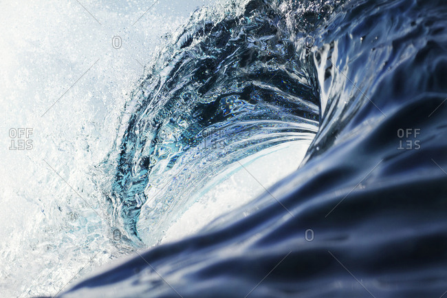 Close-up of wave breaking in sea
