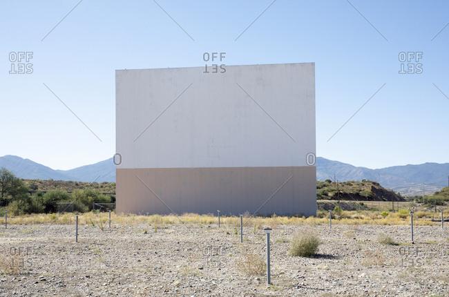 Abandoned drive in movie theater, Globe, Arizona, USA