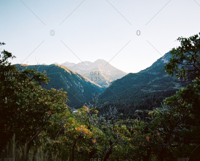 View over mountainous region in Utah