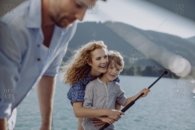 Family on a sailing trip