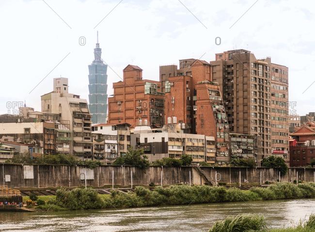 Taipei, Taiwan - November 5, 2018: Taiwanese Skyline