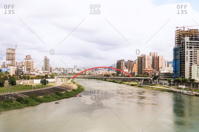 Taipei, Taiwan - November 5, 2018: Taiwan Bridge