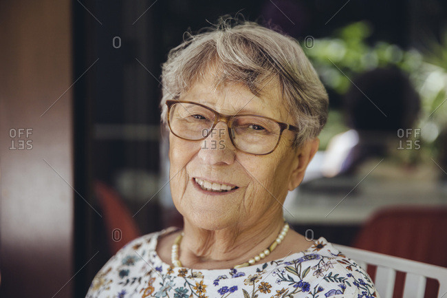 Portrait of a smiling senior woman