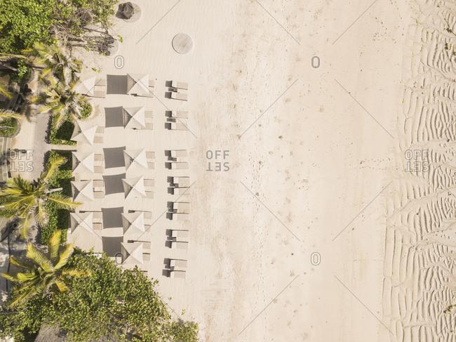 Aerial view of Nusa Dua beach,Bali,Indonesia
