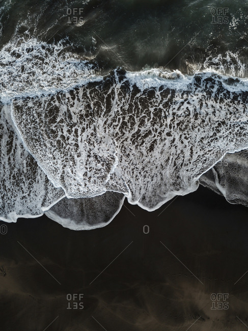 Aerial view of wave,Bali,Indonesia