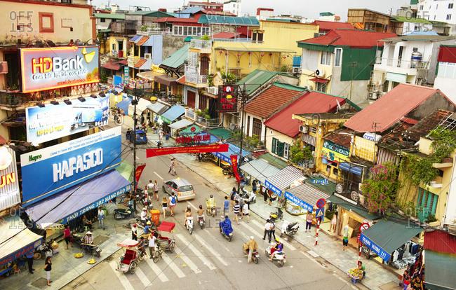 Hanoi, Vietnam - July 28, 2012: Dong Xuan Market in the center district Hoan Kiem
