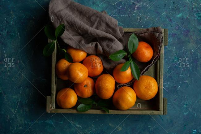 Mandarin in crate