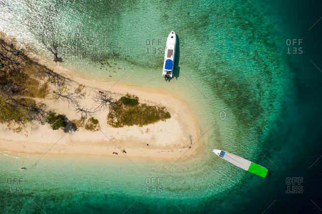 July 3, 2019: Aerial view of Kelor island at Komodo National Park, Indonesia.