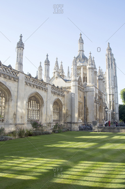Cambridge, England - September 7, 2012: University of Cambridge, entrance to King's college in the morning