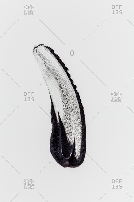 Abstract dark smears on white background