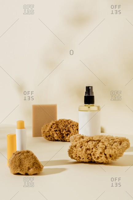 Soap, lip balm, oils and sponges