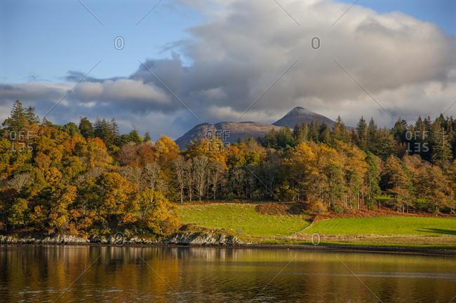 Ben Cruachan and Achnacloich, Loch Etive, Argyll, Scotland