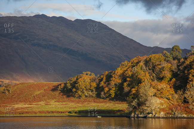 Autumn light over Loch Etive, Argyll, Scotland