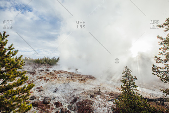 View of hot spring at Yellowstone national park
