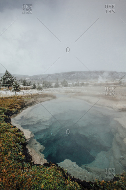 Close-up of hot spring at Yellowstone National Park