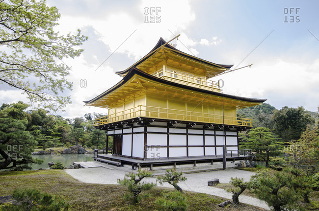 Kinkaku-Ji temple against sky at Kyoto
