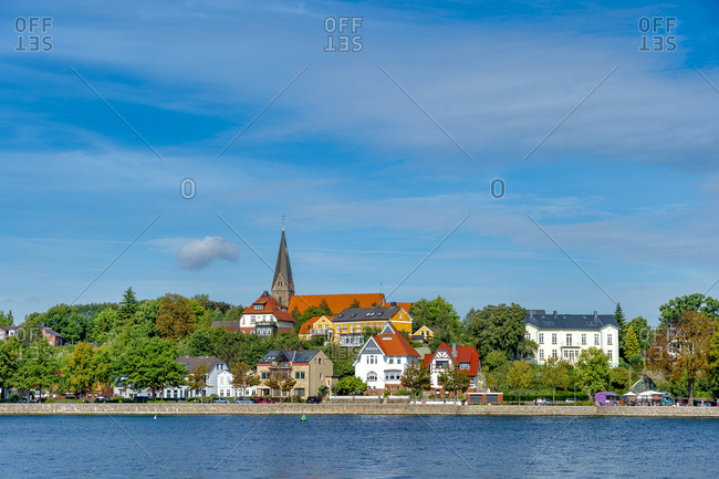 Germany- Schleswig-Holstein- Eckernfoerde- city view with church