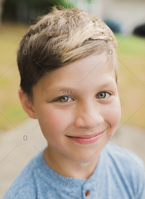 Close-up portrait of boy smiling