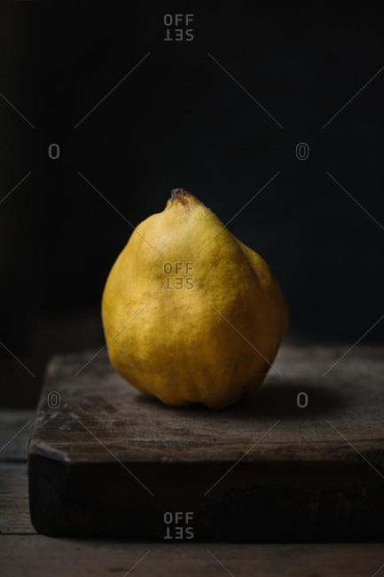 Still life of yellow quince