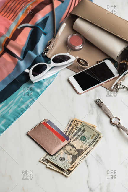 Woman's Purse with Money And Personal Items