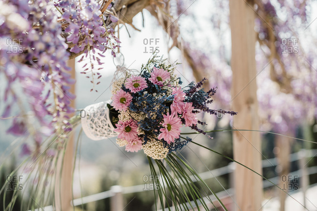 Bohemian bouquet of flowers during daylight outdoors