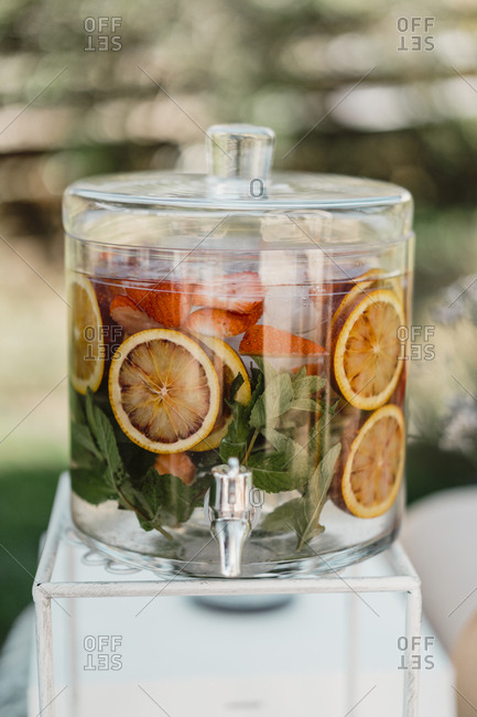 Fruit infused water in a water dispenser