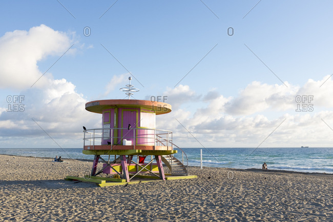 Futuristic Lifeguard Tower on South Beach, Miami Beach