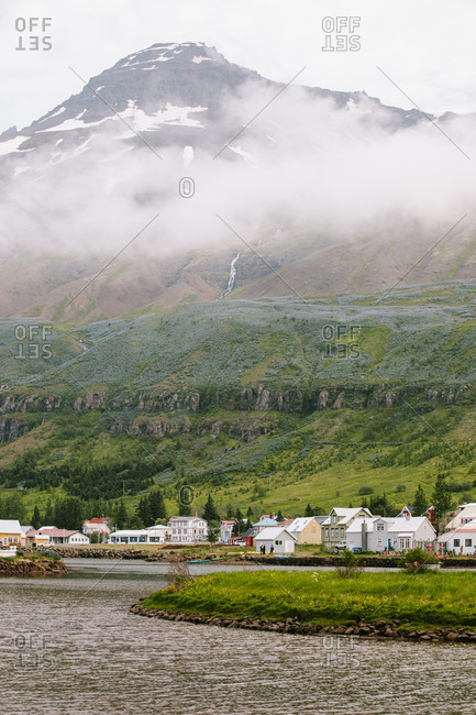 Coastal village of Seydisfjordur in Iceland