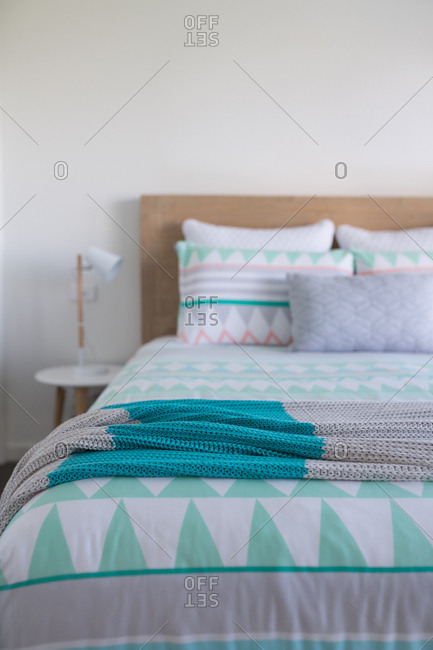 Styled  bedroom with copy space