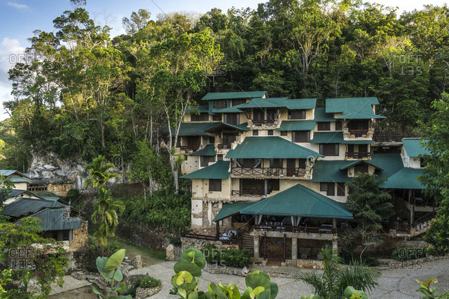 The greater antilles, the caribbean, the dominican republic, samana, los haitises, ecological hotel in the national park los haitises
