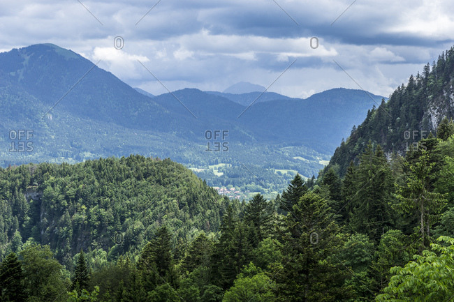 Germany, bavaria, bavarian alps, lenggries, view at the mountains around lenggries