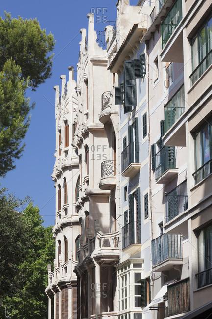 Jugendstil building edifici casasayas, modernisme, placa del mercat, palma de majorca, majorca, the balearic islands, spain