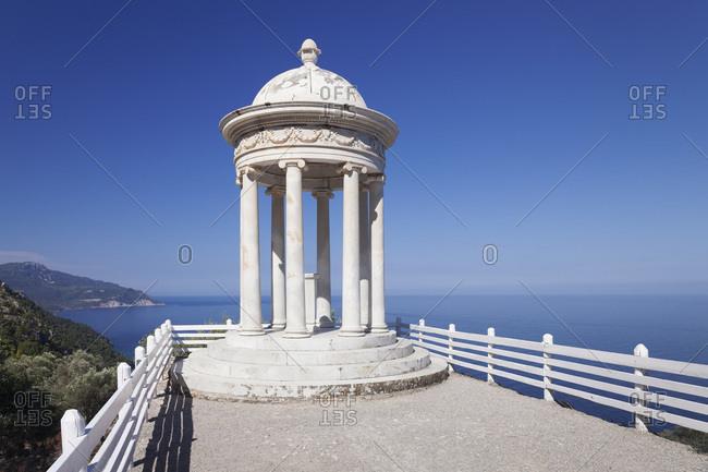 Pavilion at mansion son marroig, deia, sierra de tramuntana, majorca, the balearic islands, spain