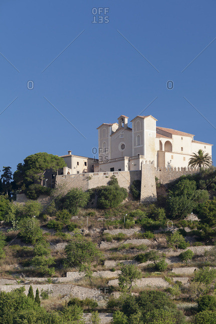 Pilgrimage church sant salvador on the calvary, arta, majorca, the balearic islands, spain