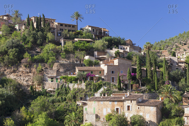 Deia, sierra de tramuntana, west coast, majorca, the balearic islands, spain
