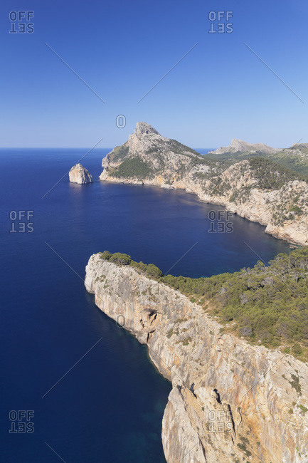 Cap de formentor and the island el colomer, majorca, the balearic islands, spain