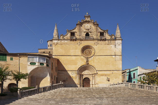Parish church sant miguel, felanitx, majorca, the balearic islands, spain