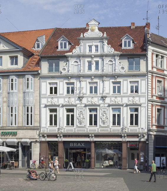 August 10, 2015: germany, lower saxony, brunswick, house on the kohlmarkt