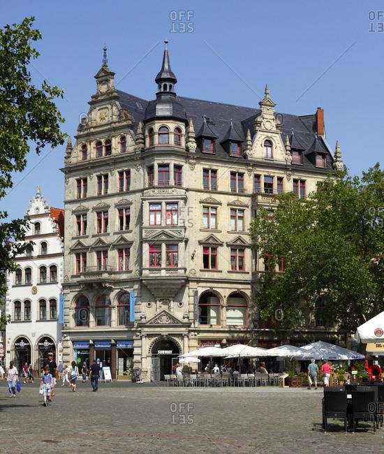 August 10, 2015: germany, lower saxony, brunswick, haus zur rose with sternhaus on the kohlmarkt