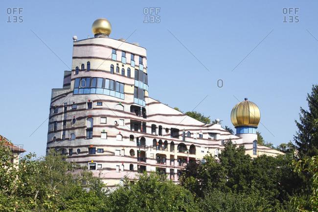 August 7, 2016: hundertwasserhaus / hundertwasser building, darmstadt, hessia, germany, europe