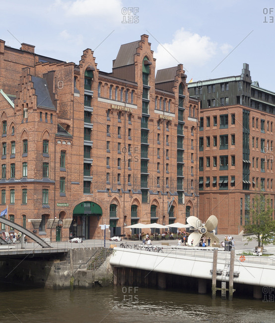 April 29, 2014: internationales maritimes museum / imm of hamburg in the former kaispeicher i (quay warehouse i) hafencity, hamburg, germany
