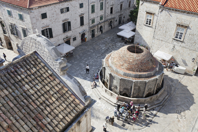 May 31, 2012: big onofrio wells, dubrovnik, dalmatia, croatia